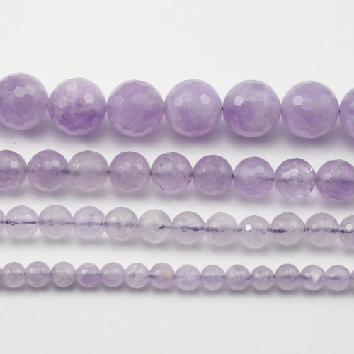 Jade violet Rond facette 10mm x 6pcs