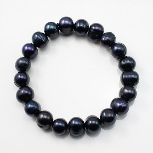 Bracelet  Perle D'eau Douce noir