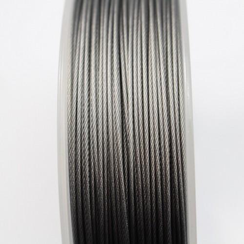 Fil Cable acier  Grise 0.80mm x 2m