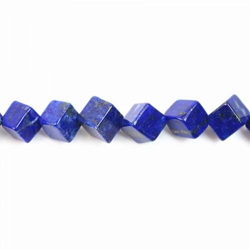Lapis-lazuli cube carré  6x8mm x 40cm