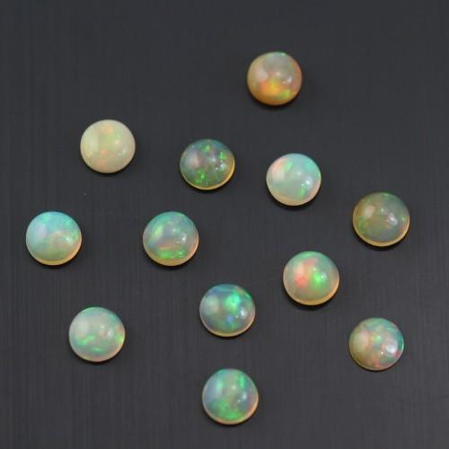 Cabochon opale ethiopian ronde 7mm x 1pc
