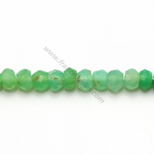 Chrysoprase rondelle facette 4-4.5mm x 34cm