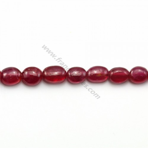 Rubis Rouge Ovale 4.6x5.6mm-7.5x9mm x 40cm
