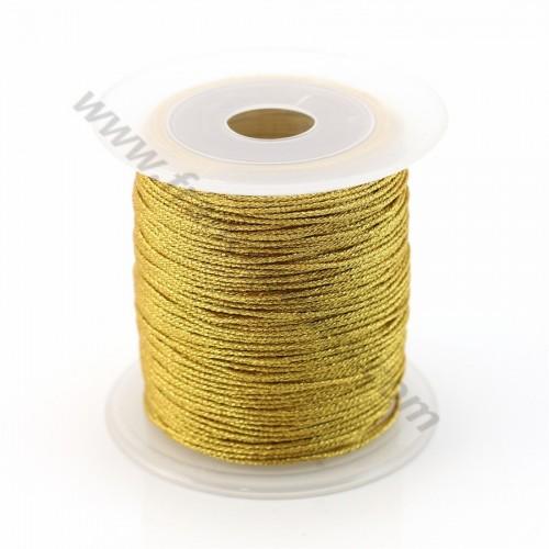 Fil polyester doré torsadé 0.3mm X 150m