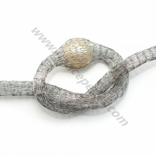 Résille tubulaire 6mm gris  x 91.4cm