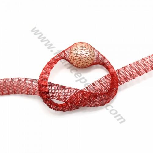 Résille tubulaire 6mm rouge  x 91.4cm