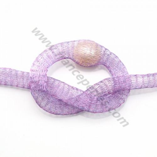 Résille tubulaire 6mm lilas  x 91.4cm