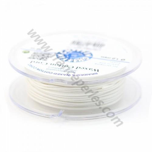 Cordonnet coton ciré blanc 1.0mm  x 20m