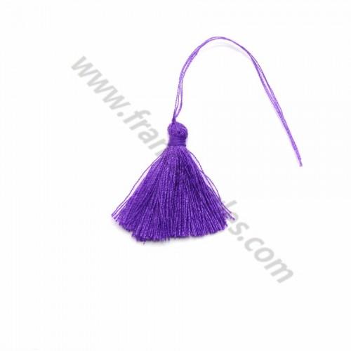 Pompon en coton violet 30mm x 1pc