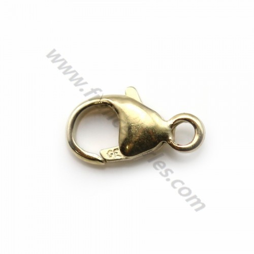 Fermoir mousqueton en gold filled 14 carats 3.8*8mm x 2pcs