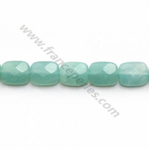 Amazonite rectangle facette 8x10mm x 5pcs