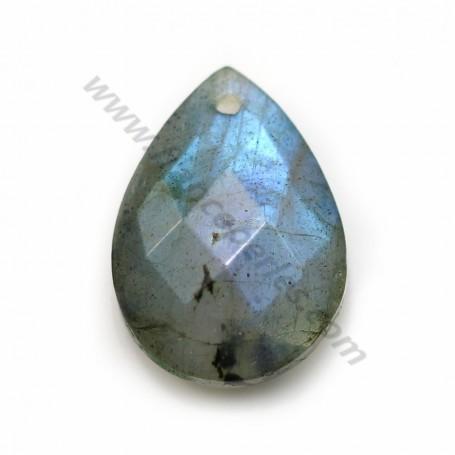Labradorite, en forme de goutte facetté 13 * 18mm x 1pc