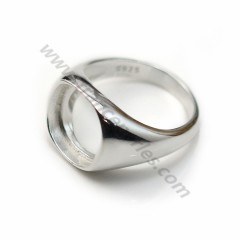 Ring set in 925 silver, with a 12mm square stand x 1pc