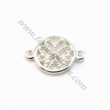 Spacer flower ,sterling silver 925, 8.5x12.5mm x 2pcs