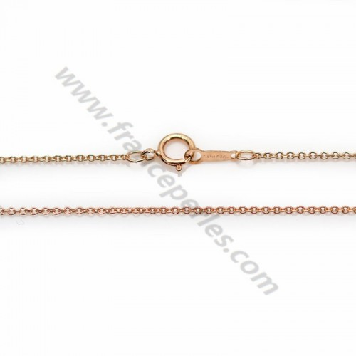 Chaîne Gold Filled rose 14 carats ovale 1.1mm 45cm x 1pc