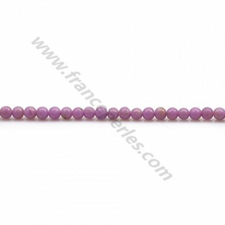 Phosphosiderite violet clair, de forme ronde, 2.5mm x 39cm