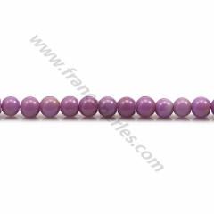 Phosphosiderite light purple, in round shape, 4mm x 40cm