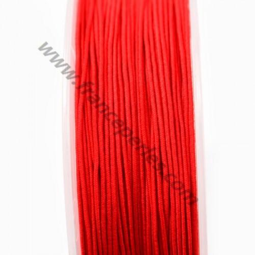 Fil elastique a chapeau rouge 0.80mm x 5m