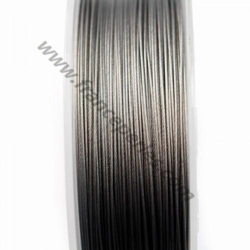 Fil Cable acier  Grise 0.50mm x 2m