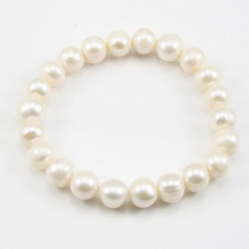 Bracelet Adrienne Perle D'eau Douce Blanc