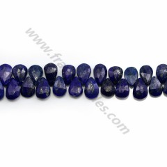 Lapis lazuli, in the shape of a drop, size 6 * 9mm x 39cm