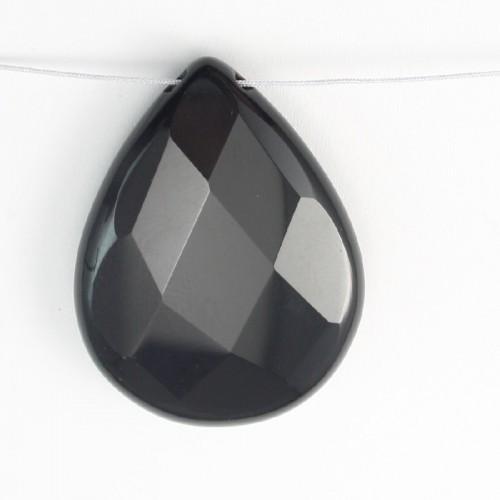 Pendant Black Agate 25*35mm