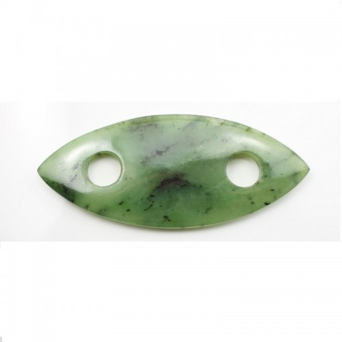 Pendant Ruby Zoisite Oval 33X77mm