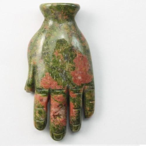 Pendant Hand Unakite18*40mm
