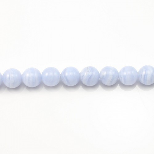 Blue Chalcedony Round 8mm x 40cm