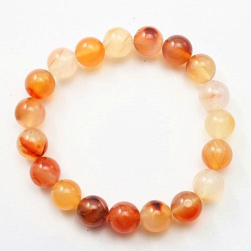 Bracelet cornaline  Round Ball 10 MM