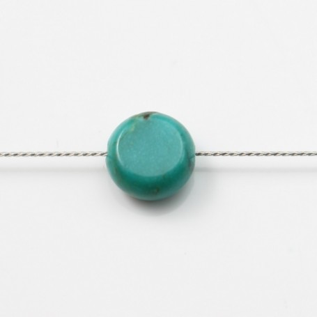 Turquoise Ronde Plate 6mm x 2pcs