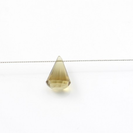 Lemon Quartz  faceted pyramid drop x 1pc