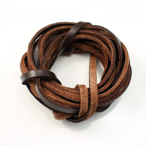 Brown lacet leather 3.0mm  x 50cm