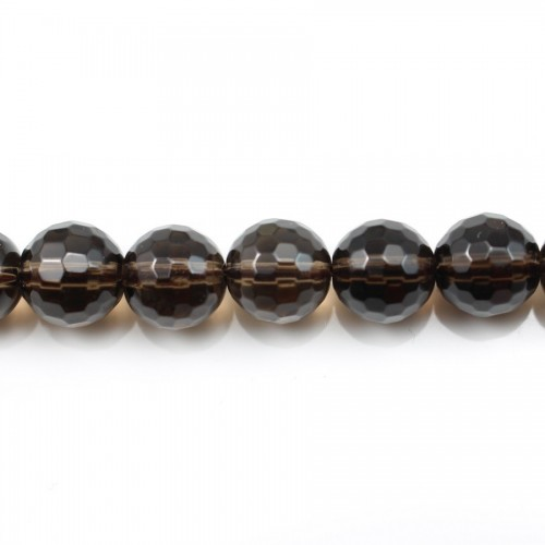 Smoky Quartz Faceted Round 4mm X 40 cm