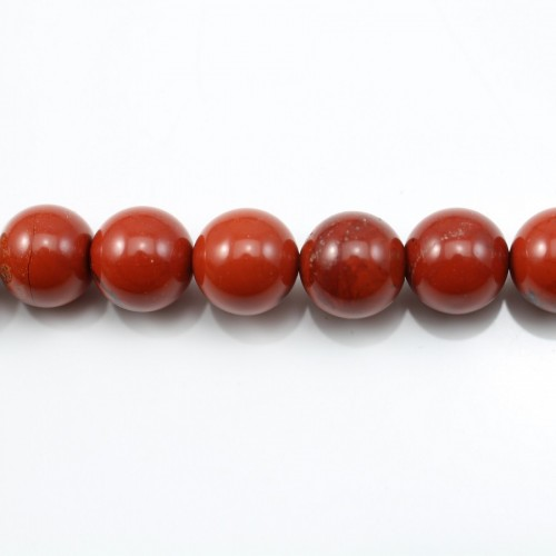 Red Round Jaspe  10mm X 40cm