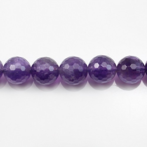 Amethyst Faceted Round 14mm A x 40cm