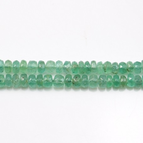 Emerald Faceted Rondelle x45cm