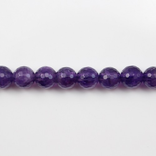 Amethyst Faceted Round 8mm x 40cm
