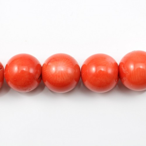 Colored Orange Round Sea Bamboo 16mm X 40cm