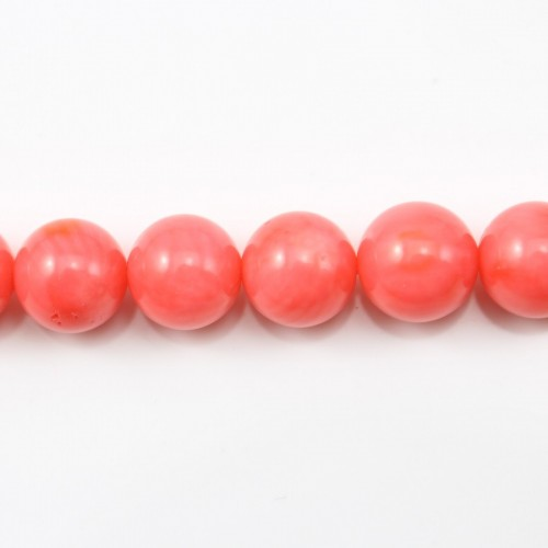 Colored Orange Round Sea Bamboo 8mm X 40cm