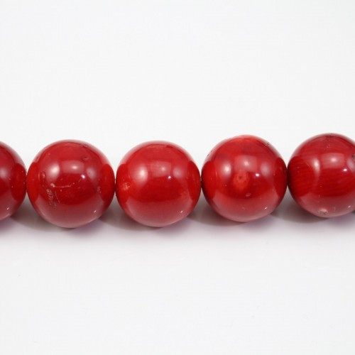 Red colored round sea bamboo 18mm  X 40cm