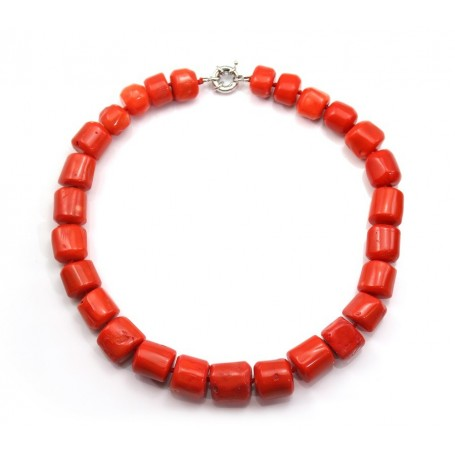 Necklace in bamboo of orange sea