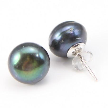 Earring  silver 925 Freshwater Pearl 12-13mm X 2pcs