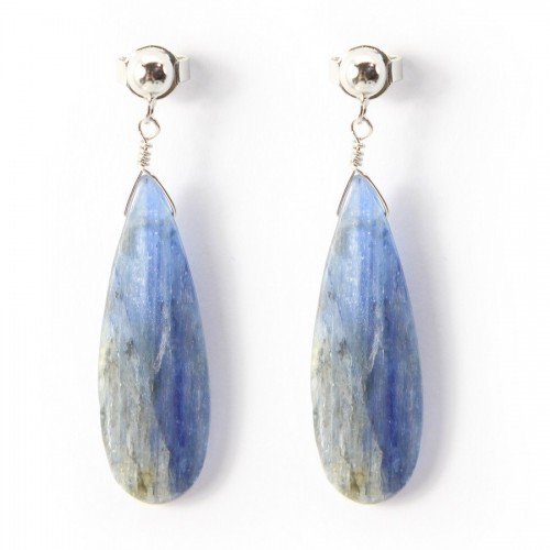 Earring  Kyanite  deardrop x 2pcs