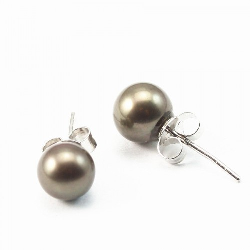 Earring  silver 925 white  Freshwater Pearl 7mm X 2pcs