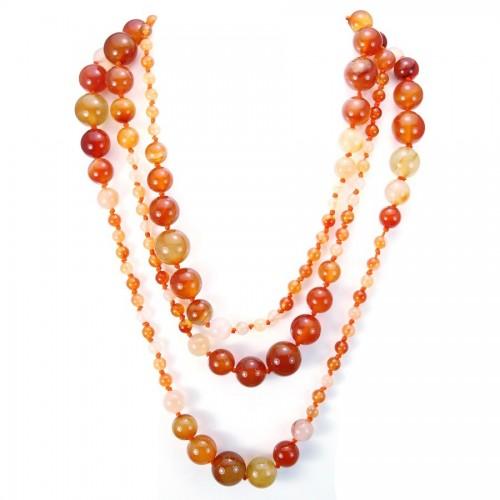 Necklace cornaline  140cm