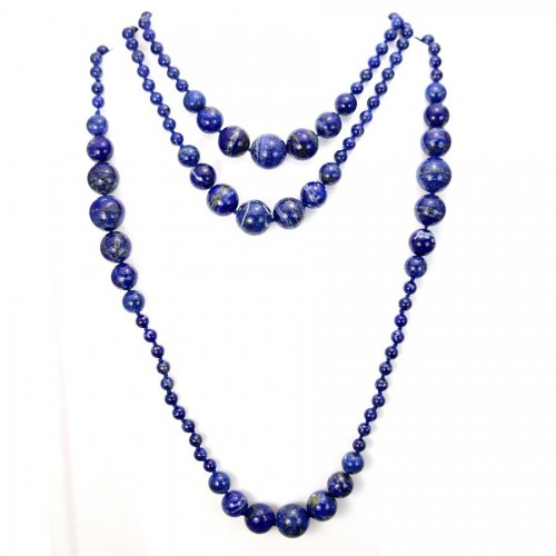 Necklace lapis lazuli  140cm