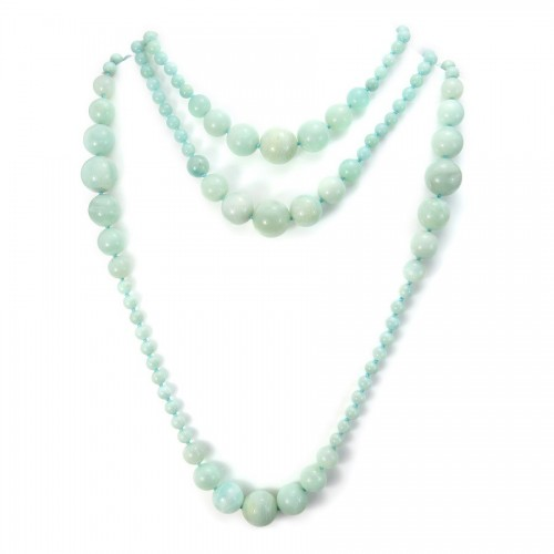 Necklace amazonite 140cm