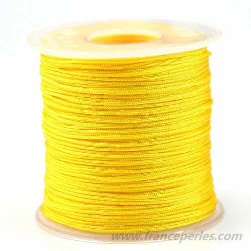 Fil polyester jaune 0.8 mm X100m