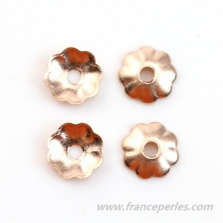 Gold filled rosé 14 carats coupelle en fleur 3x0.76mm x 12pcs